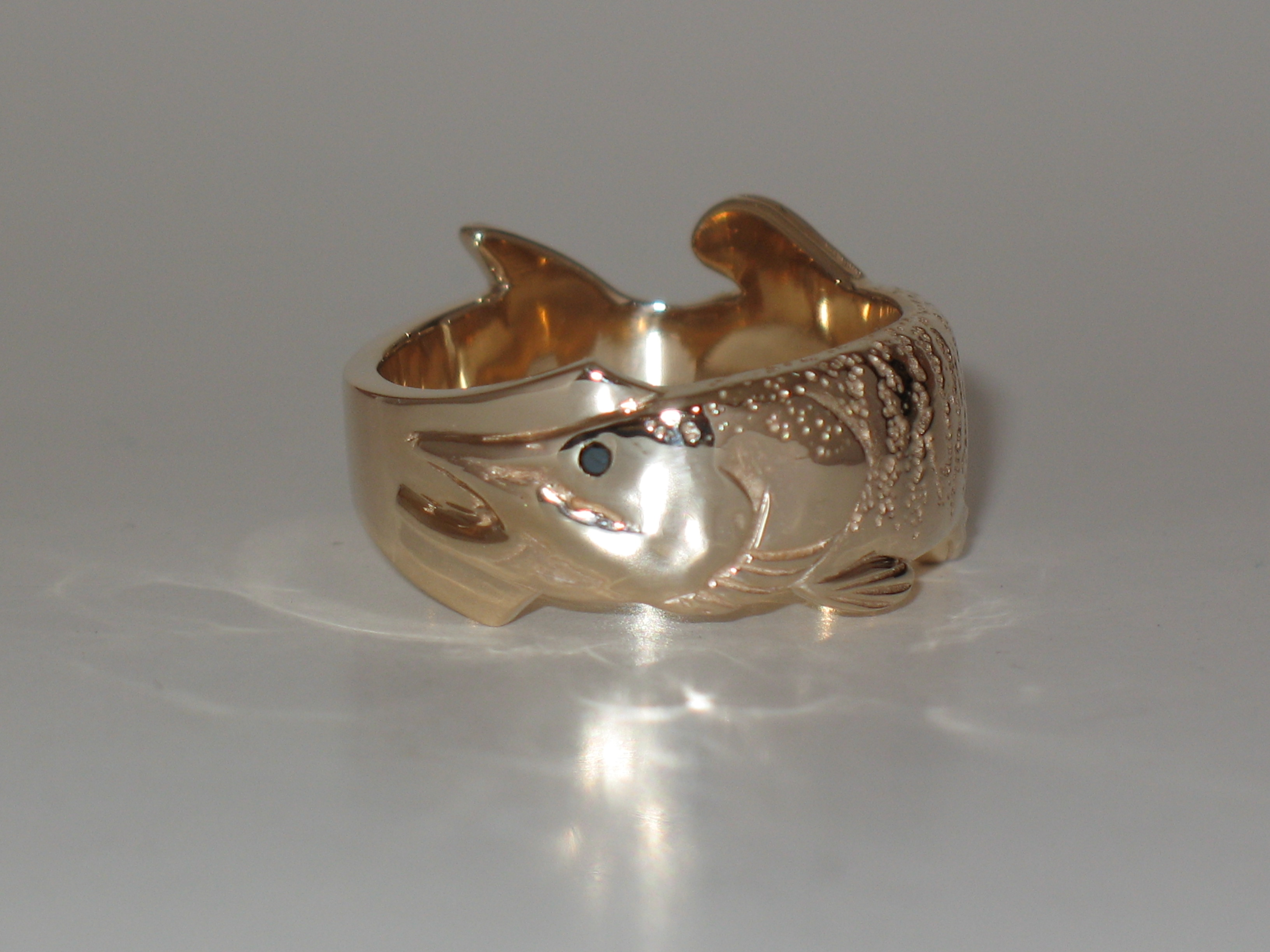 Muskie Ring with Black Diamond Eye