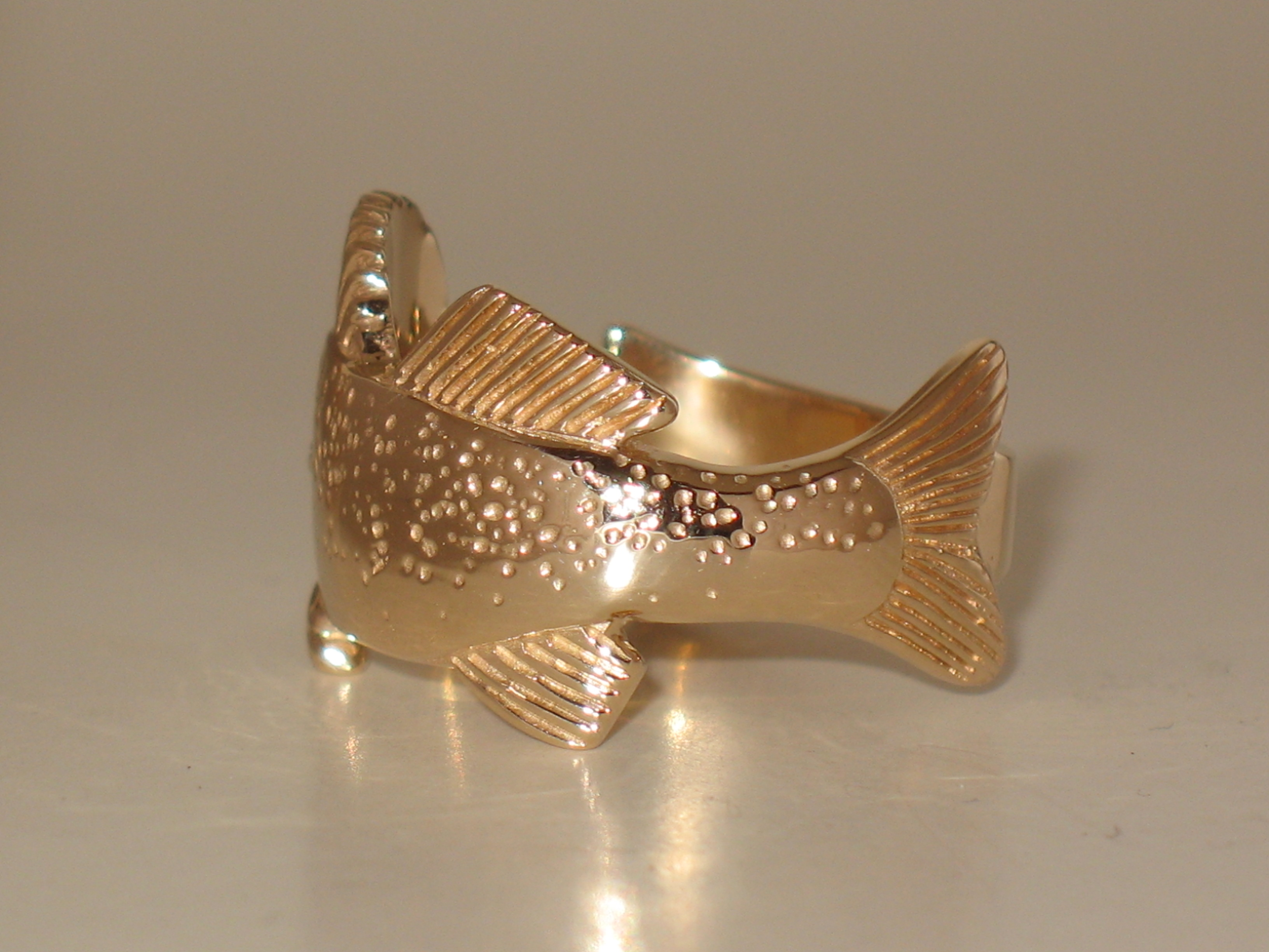 Back of Walleye Ring