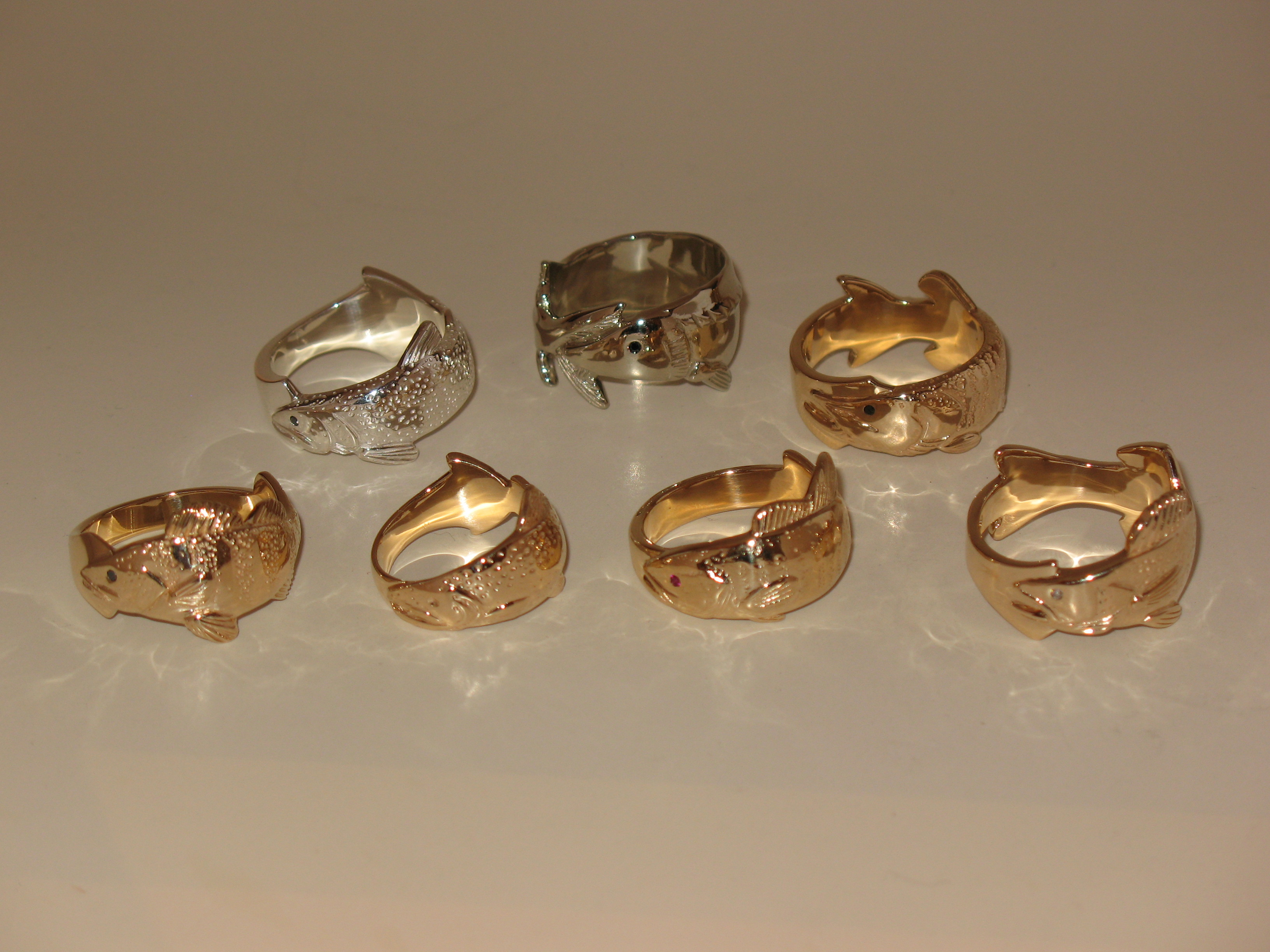 Group Photo of all Trophy Fish Rings